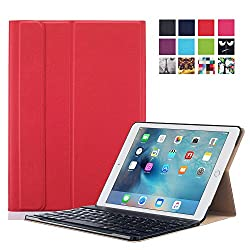 Apple iPad Pro 9.7 Case - ProElite Smart Flip Case cover for Apple iPad Pro 9.7 [Sleep/Wake] (Red) [Keyboard not included]