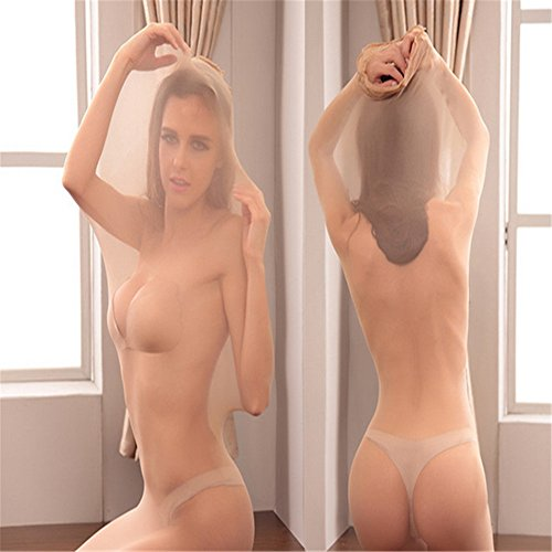 Lsinyan Sexy Whole Body Stockings Unisex Bondage Sheer Body Encasement Cocoon yellow (Couples Costumes)