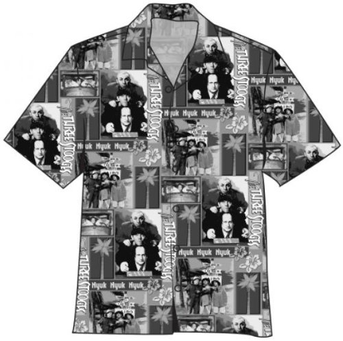 Three 3 Stooges THREE STOOGES VACATION CAMPSHIRT Camp Shirt