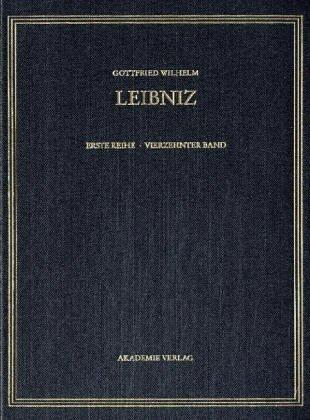 Gottfried Wilhelm Leibniz. Sämtliche Schriften und Briefe: Mai - Dezember 1697: 14