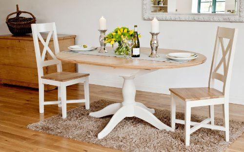 New Buy Cheap Avana painted furniture oak large extending dining table