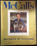 img - for McCalls Magazine March 1956 Duchess of Windsor Cover of Her Holding her 2 Dogs in Chair ( Wallis Simpson ) Beginning the Autobiography of the Duchess a Woman in Love, A Great Throne at Stake, A Vast Empire Seething ( Feature article by Mary Martin
