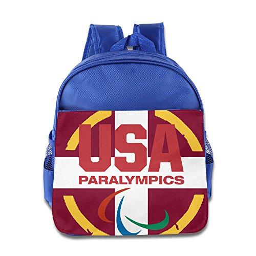 ANULRICA Boys Girls Toddler USA Paralympics Team 2016 Rio Summer Olympics School Bag RoyalBlue