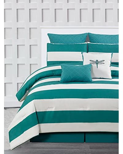 Duck River Textiles Delia Stripe Printed 7-Piece Comforter Set