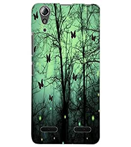 ColourCraft Lovely Butterflies Design Back Case Cover for LENOVO A6000 PLUS