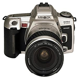 Minolta Dynax 505si Super Spiegelreflexkamera silber inkl. AF 3,5-5,6/28-80mm Objektiv silber