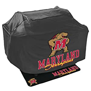 Mr. Bar B Q NCAA Grill Cover and Grill Mat Set, University of Maryland Terrapins