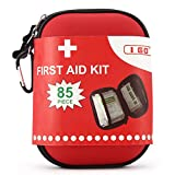 I GO First Aid Kit For Survival and Emergencies (85 Pieces) Light, Waterproof, Compact, and Comprehensive - Perfect for Home, car, Road Trips, Sport, Camping, or Any Other Outdoors Activities
