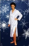 Everyday Lingerie Exclusive Brushed Back Satin Snow Flake Holiday Nightgown