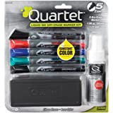 Quartet Dry Erase Markers Accessory Kit, Fine Tip, EnduraGlide, Assorted Colors, 5-PACK (5001M-5SK)