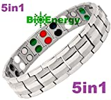 Titanium Magnetic Energy Germanium Armband Power Bracelet Health Bio 5in1 Bio 256
