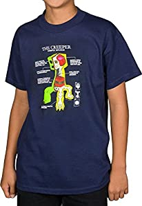 Minecraft - Creeper Anatomy Youth T-Shirt