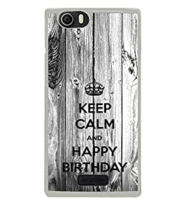 ifasho Nice Quote On Keep Calm Back Case Cover for Micromax Canvas Nitro2 E311