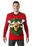 コスプレ ハロウィン トナカイ 鹿 バンビ HEAD UGLY CHRISTMAS SWEATER 大人 メンズ 男性 仮装 変装 ハロウィーン イベント パーティ 並行輸入品