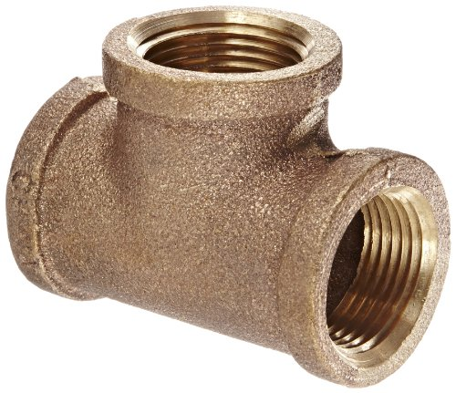 Anderson Metals 38101 Red Brass Pipe Fitting, Tee, 3/4″ x 3/4″ x 3/4″ Female Pipe