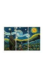 Arte Dal Mondo Set Pintura al Óleo sobre Lienzo 3 Uds. Van Gogh Notte Stellata