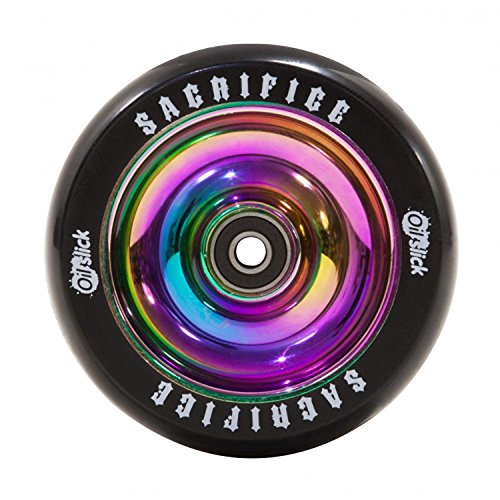 sacrifice-oil-slick-110mm-alloy-core-scooter-wheel-w-bearings-neo-chrome
