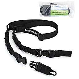 Yahill(TM) 2 Point Rifle Gun Sling Adjustable Strap Cord for Outdoor Sports, Hunting (Black)