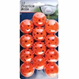 "Intech Practice Balls with holes, 12 Pack (Orange) (Sports) By Intech          Buy new: $5.18     Customer Rating:       First tagged ""golf ball"" by Orchidblue"