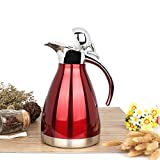 2-Liter-Red-Stainless-Steel-Double-Walled-Thermal-Coffee-Serving-Carafe-Vacuum-Insulated-Hot-Water-Kettle