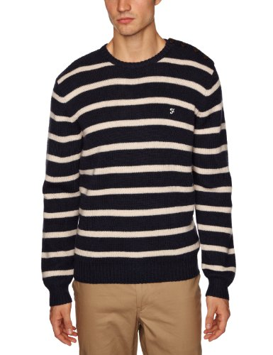 Farah 1920 The Novak Men's Jumper Navy Small