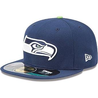 NFL Mens Seattle Seahawks On Field 5950 Slate Game Cap By New Era by New Era