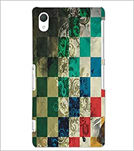 PrintDhaba Pattern D-5455 Back Case Cover for SONY XPERIA Z3 (Multi-Coloured)