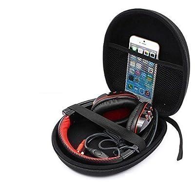 Ginsco Headphone Carrying Case Storage Bag Pouch for Sony MDR-XFB950BT Sennheiser HD 201 HD202 Audio-Technica ATH-M50x Bose AE2w Grado SR80