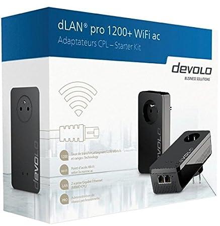 Devolo 9551 DLAN PRO 1200+ WIFI AC Carte Réseau et Adaptateurs Ethernet, Compatible Norme Wifi 802.11a, Compatible Norme Wifi 802.11b, Compatible Norme Wifi 802.11g, Plan, Mimo