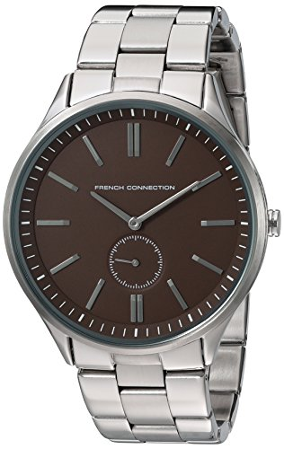 French Connection FC1244BSM - Reloj para hombres, correa de acero inoxidable color plateado