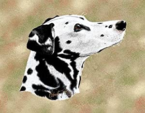 Pure Country 1122-LS Dalmatian Pet Blanket, Canine on Beige Background, 54 by 54-Inch