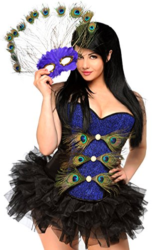 Daisy Corsets Women's 3 Piece Sexy Pretty Peacock Costume