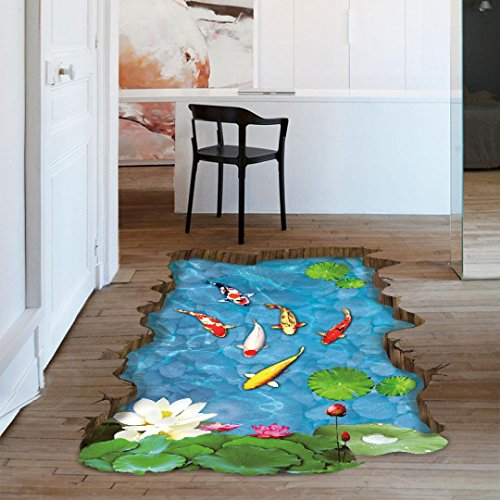 kingkor-3d-stream-floor-wall-sticker-removable-mural-decals-vinyl-art-kids-living-room-decor