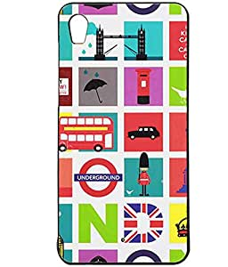 British View Exclusive Rubberised Back Case Cover For Micromax Canvas Fire A104