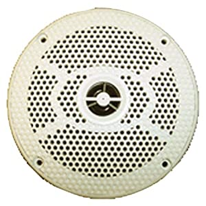 "Prospec Electronics SEA5582W Seaworthy Marine White 5"" Round Bicone Speaker from Prospec Electronics"