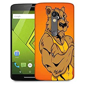 Snoogg angry werewolf cartoon character Designer Protective Back Case Cover For Motorola Moto G4