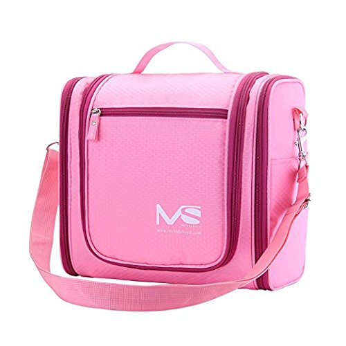 MelodySusie® Hanging Toiletry Bag / Travel Bag - A Great Choice of Big Size Waterproof Toiletry Bag for Outdoor Activities (Peachy Pink)