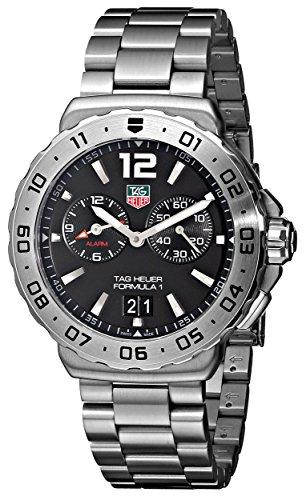 TAG Heuer Men's WAU111A.BA0858 Formula 1 Black Dial Grande Date Alarm Watch image