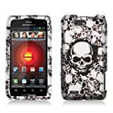 Motorola Droid 4 Droid4 xt894 Accessory-Skull Wall Design Protective Hard Case Cover for Verizon+Screen/Lens Cleaning Cloth