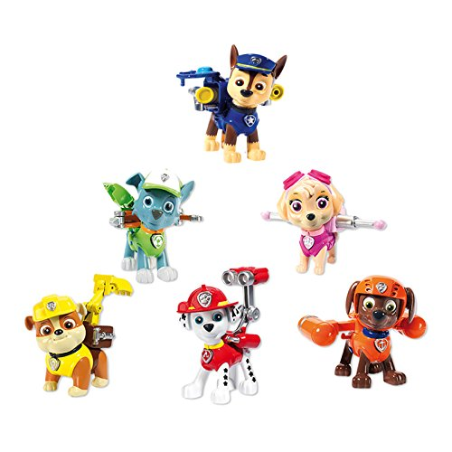 Lote de los 6 personajes de La Patrulla Canina PAW PATROL Action Pack Figuras Articuladas 4175
