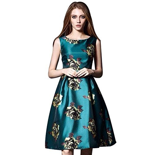 Denim Women\'s New Fashion Designer Fancy Wear Low Price Todays Best Deal Offer All Type Of Modern Satin Printed Turquoise Color Western Dress