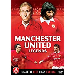 Manchester United Legends [4 DVD SET] Charlton, Best, Giggs & Cantona Man Utd