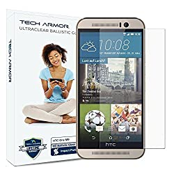 Tech Armor New 2014 HTC One (M9) Premium Ballistic Glass Screen Protector - Protect Your Screen from Drops - 99.99% Clarity and Touchscreen