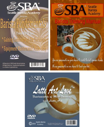 Barista Training Kit: Seattle Barista Academy Training Manual; Latte Art Love Dvd, And Barista Fundamentals (2 Dvd Set)