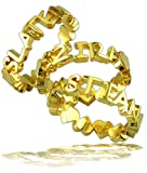 Shalmali Stackable Name Ring in 14k white, yellow, or rose (pink) gold, finger sizes 4 to 9