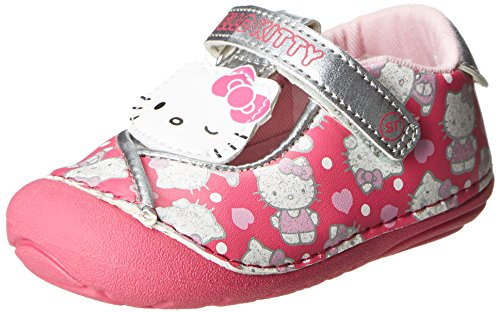 Stride Rite Srt Sm Hello Kitty Rubber Mary Jane (Toddler),Pink/Silver,4 M Us Toddler front-748722