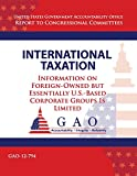 International Taxation: Information on Foreign-owned but Essentially U.s.-based Corperate Groups Is Limited