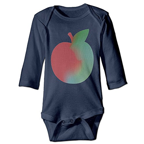 [Funny Fruit Apple Cute Boy And Girl Baby Romper Jumpsuit 6 M Navy] (Dances With Wolves Costumes Designer)