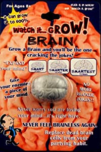 Pack of 10 Watch It Grow BRAIN- Collectible Magic Growing Thing