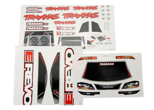 Traxxas 5613 Decal Sheet, E-Revo, 3-Piece - 1